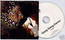 GANG GANG DANCE Rawwar UK promo test CD Young Turks