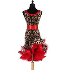 NEW Latin Ballroom Dance Dress Modern Salsa Waltz Standard Long Dress#FM452