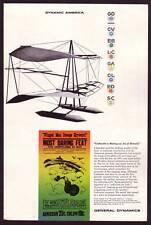 1950s Old Vintage Edson Gallaudet Flying Machine Airplane Aircraft Art Print Ad