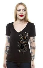 LUCKY 13 Bad Kitty Juniors Deep V-Neck T-Shirt S-2XL NEW