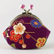 Handmade Japanese Sakura Cherry Blossom Oriental Coin Purse Collectable #0159