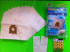 10 sacchetto per la polvere (filtro cartocci) per Miele: Blue Moon 800/+ Plus, geniale: 4500,6600
