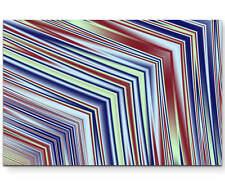 Abstraktes Bild – Linien in rot, weiß, blau, gelb - Leinwandbild