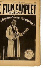 VOULEZ-VOUS FAIRE DU CINEMA Pierre Ramelot RENE ALINAT Balco FILM COMPLET 1925