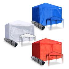 Gazebo c/ laterali tenda chiusa richiudibile 3x3 pieghevole impermeabile mercato