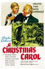 A Christmas carol Reginald Owen vintage movie poster 3