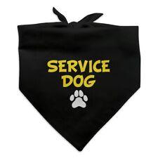 Service Dog with Paw Print Dog Pet Bandana