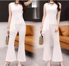 Élégant refinada conjunto de mujer pantalones suéter camisa blanco élégant 3495