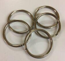 """Wholesale Lots of 10-200 Silver Split Rings Key Rings 1 5/16"""" (32mm) Diameter"""