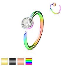 Nasenring Nasenpiercing Nasenstecker Ring Hoop Nase Helix Kristall Titan