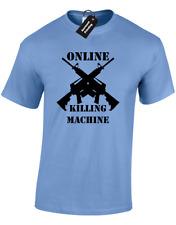ONLINE KILLING MACHINE MENS T SHIRT FUNNY GAME GAMER BLOGGER PS4 XBOX PC VIDEO