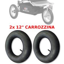 "2x 12"" 1/2 x 2 1/4 CAMERA D'ARIA CARROZZINA PASSEGGINO BICI BIMBO BAMBINA"