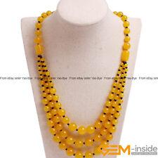 Handmade 8-12mm Gemstone Beaded Fashion Long Necklace For Women 19 Inch Yao-Bye