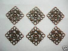 Antiqued Copper Pl Filigree Drops Earring Findings - 6