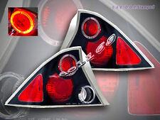 2001-2003 Honda civic Tail Lights 2 Doors Halo Black 02 Lamps