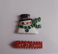Let it Snow in resina abbellimento topper per cartoline