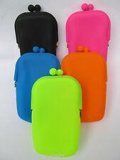 Donne Ragazze Morbida in Silicone Borsetta dei Trucchi portamonete 5 Colori NEON luminosi UKSeller
