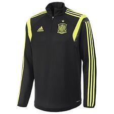 Spain Adidas Original Soccer Training Top- Adult Sizes-Black