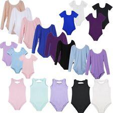 Girls Kids Gymnastics Leotard Ballet Dress Dancewear Dancing Costume Unitards