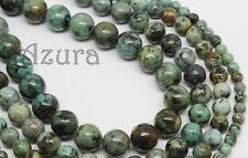 African Africa Turquoise Semi-Precious Round Gemstone Beads