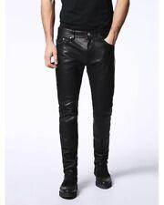 "DIESEL Black P-Thavar-L Leather Trousers - Sizes  W28"",  W30"", W31"", W32"", W33"""