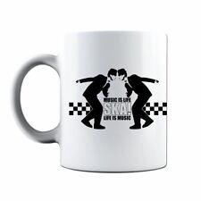 SKA Music Is Life 2Tone Reggae Soul Rhythm & Blues Coffee Tea Cup Cafe Mug