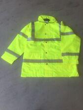 jacket work X back cross silver tape reflective waterproof coat oxford polyester