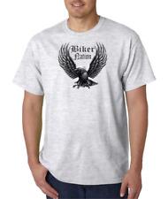 USA Made Bayside T-shirt Attitude Rebel Biker Nation Eagle Metal