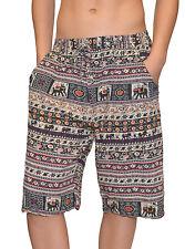 Damen Bermudas leichte Sommer kurze Hose Elefant - Schwarz oder Blau - S  bis XL ca36ea7b15