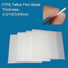 0.5/1/2/3/4/6mm Thickness Teflon PTFE Film Plate High Temperature Plastic Sheet