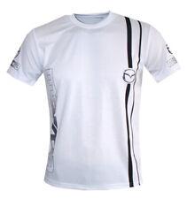 Mazda logo white handmade high quality graphics men's t-shirt