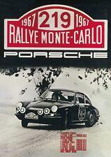 Vintage 1967 Rally Monte Carlo Porsche Poster