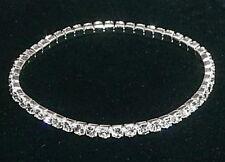 "4,6,8pcs 1-Row CRYSTAL RHINESTONE bracelets 6"" wedding bridal bridesmaids gifts"