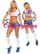 Sexy USA Soccer Player Cheerleader World Cup Football Girl Costume