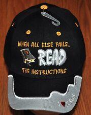 When All Else Fails Read the Instructions Christian Hat Cap I Love Jesus Bible
