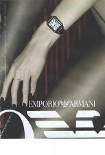 PUBLICITE ADVERTISING   2009  ARMANI montre