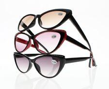 Women Cat Eye Rhinestone Tinted Lens Reader Reading Glasses +1.00 ~ +4.00 New
