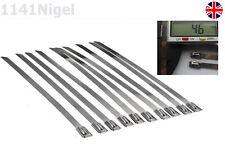 Alta Qualità 316 Acciaio Inossidabile calore Wrap legami-SCARICO Calore Avvolgere-confezione da 10