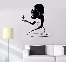 Vinyl Wall Decal Beauty Woman Spa Salon Butterfly Stickers Mural (526ig)