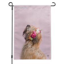 Soft Coated Wheaten Terrier Dog Flowers Garden Yard Flag
