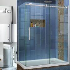 Shower Enclosure Walk in Wet Room Corner Frameless Sliding Doors Tray 8MM Glass
