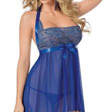 Women Sexy Nightwear Lingerie Babydoll Sleepwear Nightgown Dress Plus Size 8C