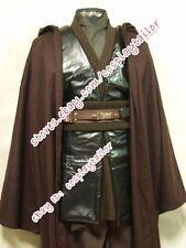 Star Wars Anakin Skywalker Brown Leather Cosplay Costume Halloween Party Coat