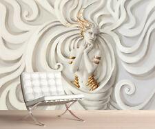 3d Medusa Wallpaper Mural foto simplemente cáscara y palillo Mejor Precio! 1073