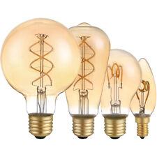 LED Spiral Filament Rustika Retro Leuchtmittel gold extra warmweiß 2200K DIMMBAR