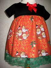 Nouveau bébé fille noir, rouge, vert, l'or Noël, Dentelle Fête, Robe Cadeau
