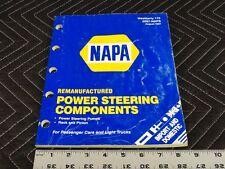 NAPA Remanufactured Steering Units Catalog 1997  G32