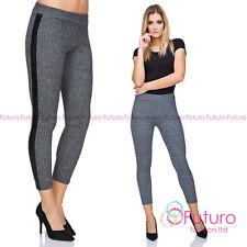 Ladies 7/8 Work Office Stretchy Skinny Tight Leggings Trousers Pants FZ122