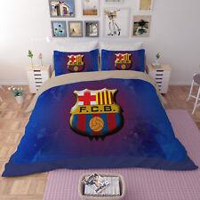 3D Blue Soccer 793 Bed Pillowcases Quilt Duvet Cover Set Single Queen King CA