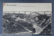 Carte postale ancienne AUVERGNE - Panorama sur le Viaduc de Garabit